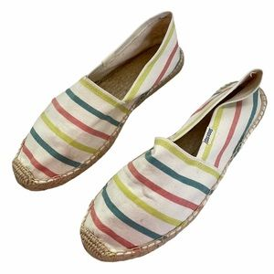 Soludos Multi Color Espadrille Slip On Shoes SZ 8